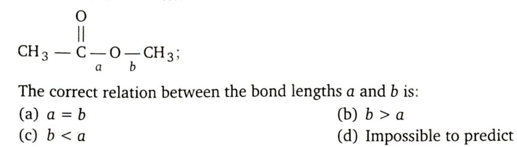 The correct relation between the bond lengths a and b is? MS Chauhan GOC video solutions by Sunny Garg Doctor Logics
